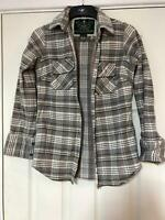 Superdry Grey Casual Shirt Size Large Women Long Sleeve Great Condition (G149)