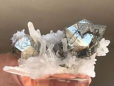 Very Rare Combo of Pyrite, Tetrahedrite & Quartz specimen from Mundo Nuevo, Peru