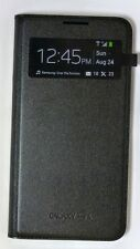Samsung - S-View Flip-Cover Leather Case for Samsung Galaxy S4 - Black