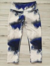 Lululemon Wunder Under Crop Milky Way Multi Blue White Legging Pant Capris Sz 2