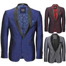Mens Vintage Floral Damask Tuxedo Suit Dinner Jacket Wedding Party Formal Blazer