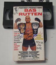 Bas Rutten Signed Extreme Pancrase MMA VHS Tape BAS Beckett COA UFC Autograph 7