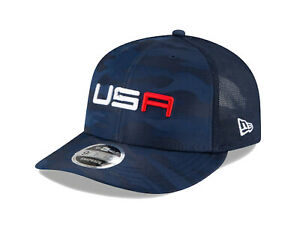 NEW 2020 New Era 9Fifty USA Ryder Cup Saturday Round Blue Snapback Golf Hat/Cap