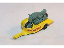 Matchbox 38 Honda M/cycle trailer with motor in original condition