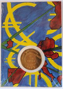 """2002 - France pièce 1/4 euro commémorative """"Euro des enfants"""" - BU"""