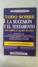 Todo Sobre La Sucesion Y El Testamento (Editorial De Vecchi) (Spanish) Paperback