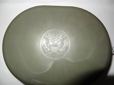"Vintage 1960's Marx Army Mess Kit Kid Size Food Dish Camping Green 7""x 5.5"""