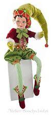 Katherine´s Collection Elf Doll Puppe Weihnachtself Wichtel Zwerg 68cm NEU grün