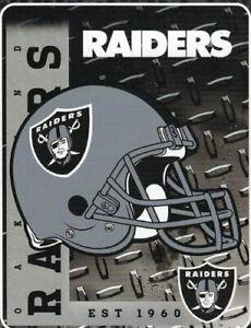 Northwest Oakland Raiders NFL Helmet 60x80 Fleece Throw Blanket