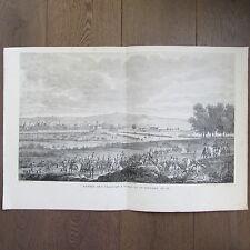 GRAVURE 1850 PAR VERNET NAPOLÉON 1798 ENTRÉE DES FRANÇAIS A TURIN