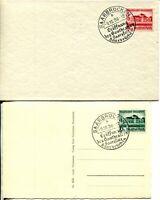 GERMANY #B121-B122 Deutsche Reich FDC First Day Cover Card Saarbrucken Theater