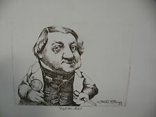 "Art print Charles Bragg artist black Lithograph ""Doyle the Mohel"" Duotone Signed"