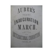 AUBER D. F. E. Grand Inauguration March Orchestre ca1860 partition sheet music s