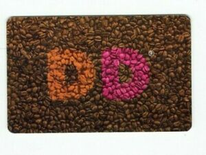 Dunkin Donuts Gift Card - DD Coffee Beans - 2014 - Doughnuts - No Value