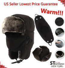 L&M Mens Winter Hat Trapper Aviator Russian Trooper Earflap Warm Ski W/Mask LFM