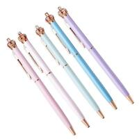 Elegant Crown Metal Cute Ballpoint Pen School Student Office Supply Stationery
