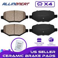 4PCS Rear Ceramic Brake Pads  For 13-2017 Ford Explorer Flex Taurus 10-2014 MKT