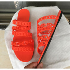 ALS04 Rubber Slides Casual Cozy Flats Outside Slippers Woman Beach Shoes