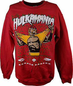 Hulk Hogan Hulkamania WWE Ugly Christmas Mens Sweater Sweatshirt