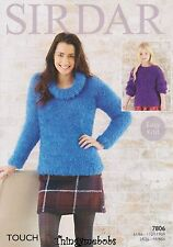 SIRDAR 7806 KNITTED JUMPERS/SWEATERS ORIGINAL KNITTING PATTERN - TOUCH YARN