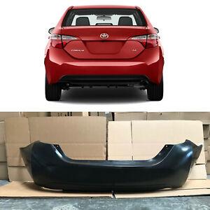 Rear Bumper Cover Replacement for 2014 2019 Toyota Corolla Sedan Primed Black