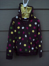 Gymboree Hoodie M 7 8 Girls Brown Polka Dots Merry and Bright Fleece Top