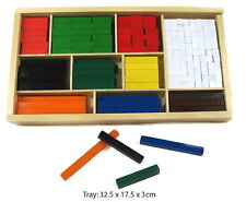 Fun Factory 308pc Wooden Cuisenaire Rods Educational Maths Counting Teaching Toy