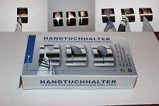 6 Stück Klemmhaken Handtuchhaken Handtuchhalter selbstklebend Edelstahl Handtuch