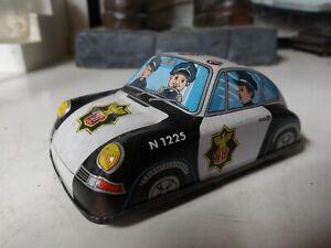 Vintage- Original 1960's Tin Friction Police Car -  ( K ) Made in Japan