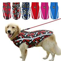 L-3XL Fashion Large Dog Jacket Pet Clothing Rain Coat Vest Reflective Waterproof