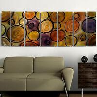 Large Metal Wall Art -7 Panels - Abstract Earth Tones Painting Artist Jon Allen