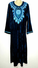 Abaya Robe Maxi Arabe Robe Jellabiya Gallaba Robe en Velours Khimar Gr. XL