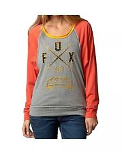 $39 Fox Racing Women's Life Line Long Sleeve T-shirt Orange Flame/Grey Size S