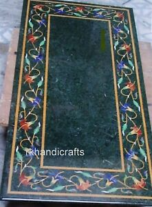 24 x 48 Inches Marble Hall Table Top Stone Coffee Table with Inlay Art at Border