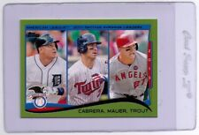 2014 Topps - Cabrera, Mauer, Trout #103 - Green Parallel Variation - SP - Mint