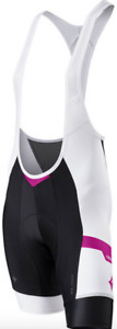 Specialized Cycling Womens SL Pro Bib Short w/ Hookup White/Pink Team Large L