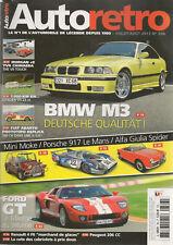 AUTO RETRO 366 MINI MOKE PORSCHE 917 TVR CHIMAERA MORGAN +8 FORD GT BMW M3 E36