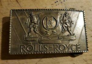 1960s - SOLID BRASS ROLLS- ROYCE BELT BUCKLE