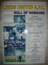 Leeds United club history roll of honours - souvenir print