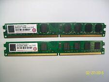 2 x 2GB 4-GB TOTAL DDR2 800 DIMM PC2-6400 TRANSCEND DESKTOP MEMORY