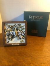 1999 Harmony Kingdom Picturesque Storm Brewing Tile in Frame w/ Original Box