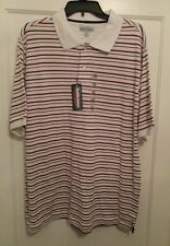 David & James Performance Polo Striped Shirt Mens XXL New with Tags Clothing