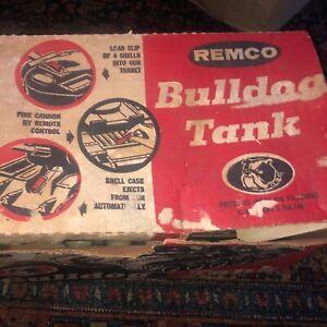 Vintage Remco # 24 U.S. Army Bulldog Tank in Original Box WORKS w/Shells LOOK