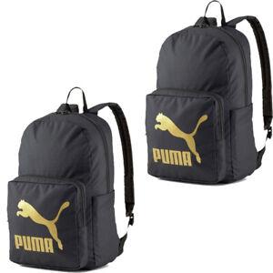 Puma Originals Backpack School Bag Travel Sports Training Gym Backpacks Black