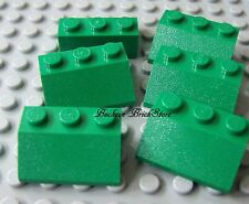 LEGO Green 2 x 3 Slope 45 Degree Lot of 6