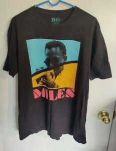 Miles Davis Men's Black T-Shirt XL Extra Large 21 Men