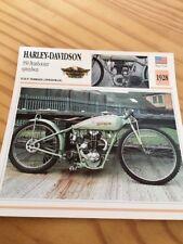 Harley Davidson 350 Peashooter Speedway 1928 Carte Collection moto Atlas USA