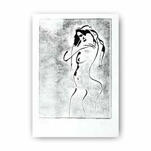 "Woodcut ""Woman nude"" 30 cm Andreas Loeschner-Gornau 2020"