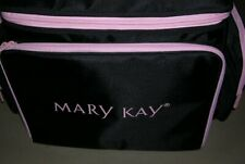 """Mary Kay Large Make Up Bag (Case / Tote) Consultant  20""""x13""""x13"""" Black Pink Trim"""