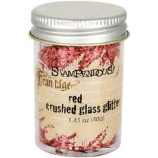 RED Crushed Glass Glitter, Stampendous 1.4oz, for ICE resin cft0036